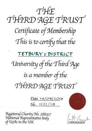 tetburyu3a certificate